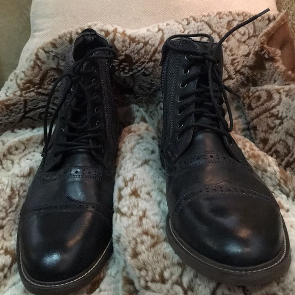 64c41b1e1dd Steve Madden Men Leather Trk Boot Hightop NEW Sz12